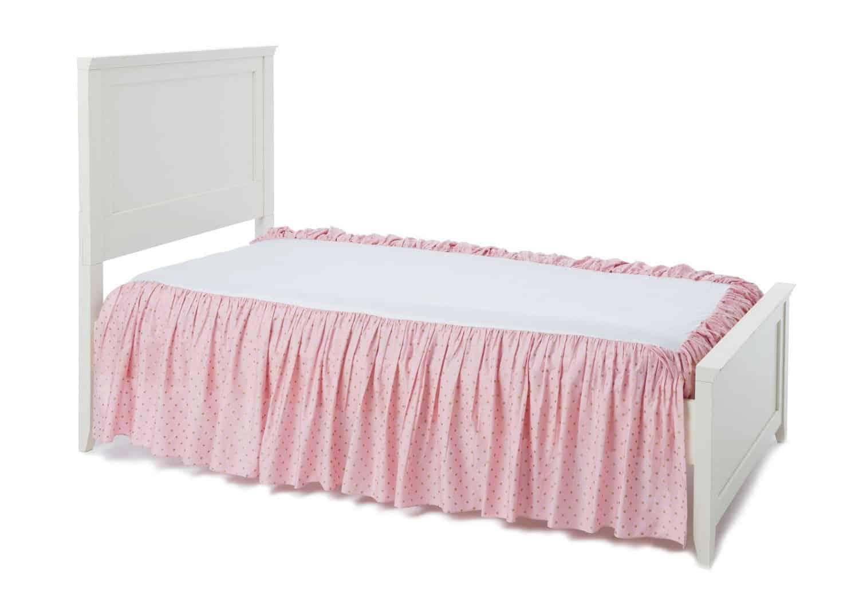 Box spring bed skirt