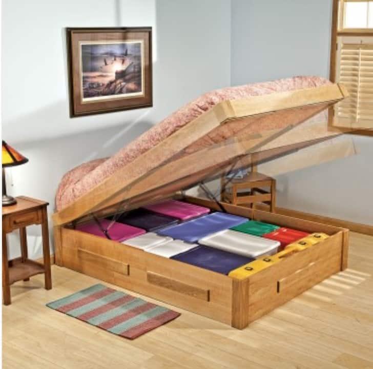Platform bed lifts make storage easy