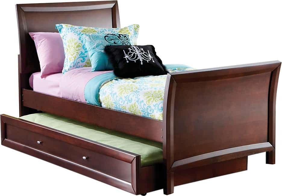 Trundle bed frame, stored under a main bed