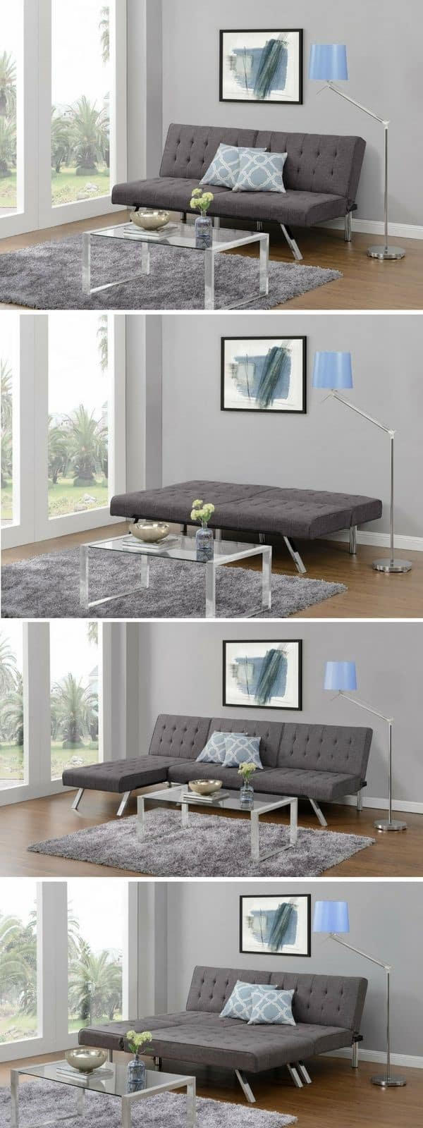 Futon sofa beds provide similar advantages but are too firm to sleep on
