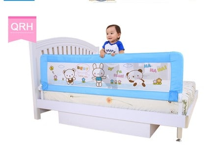 Bed guards help protect children from falling off adult beds