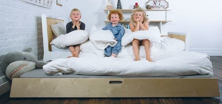 Trundle beds can be converted into guest beds from kids beds