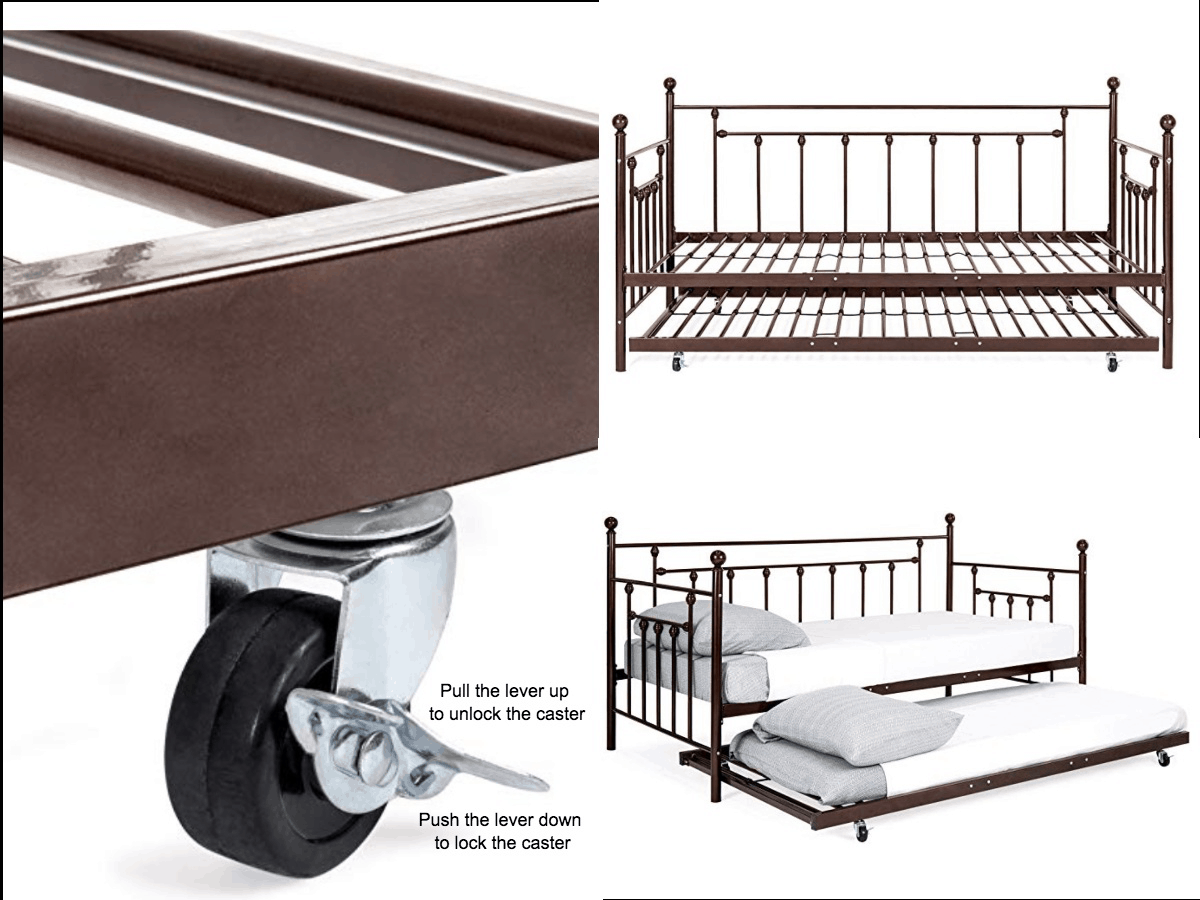 pull out trundle bed mechanism