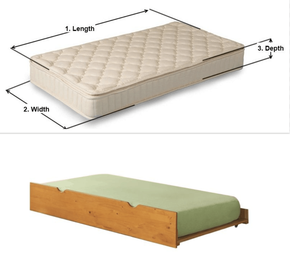 Trundle bed fitted sheet size measurements