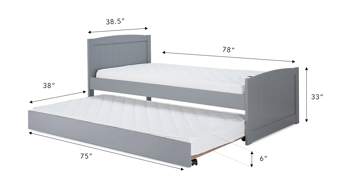 Trundle bed mattress sizes are usually smaller than their parent bed counterparts