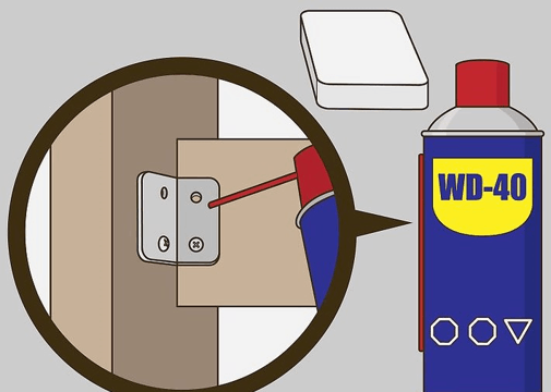 Fixing the Bolts of a Metal Bed Frame: Image of WD-40 used on bolts
