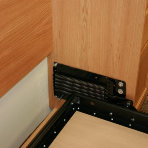 How to raise and lower the height of a murphy bed with a Spring System