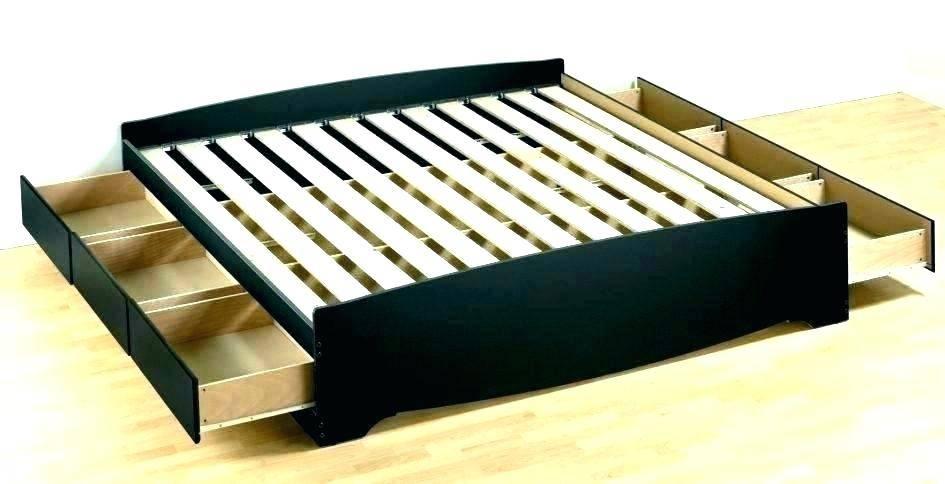 Platform Beds: Image of a platform bed with wooden slats