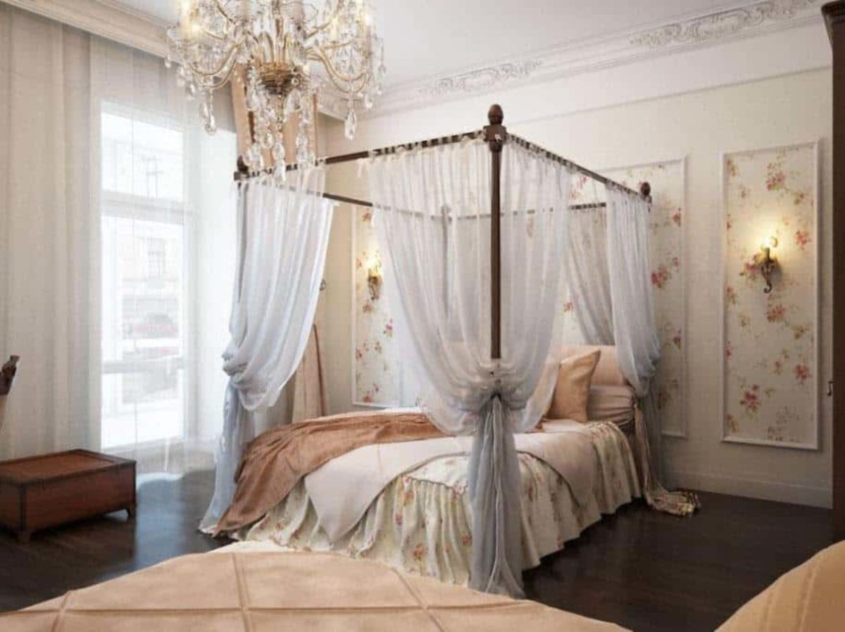 How To Drape Canopy Beds Step By Step With Pictures Mattress Nut