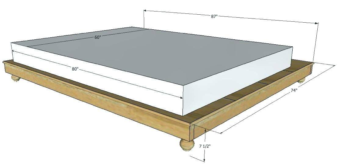 How Tall Is A Box Spring 5 Tips To, Queen Size Platform Bed Dimensions