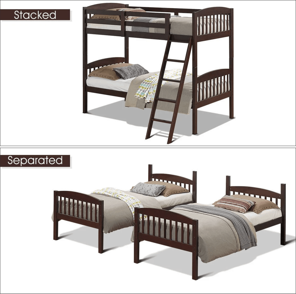 How To Separate Bunk Beds Or Turn Bunks Into Loft Beds