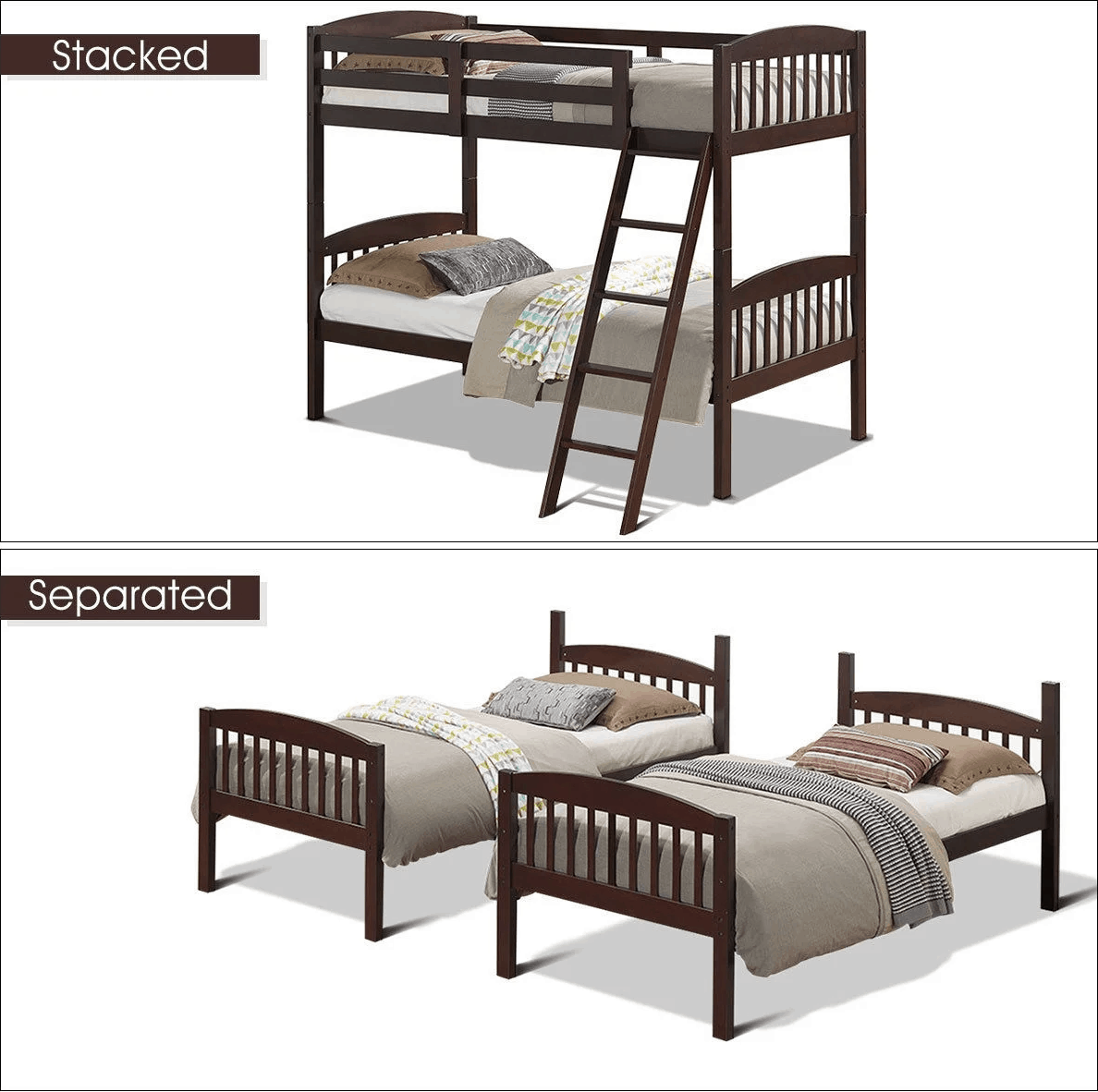 Picture of: How To Separate Bunk Beds Or Turn Bunks Into Loft Beds