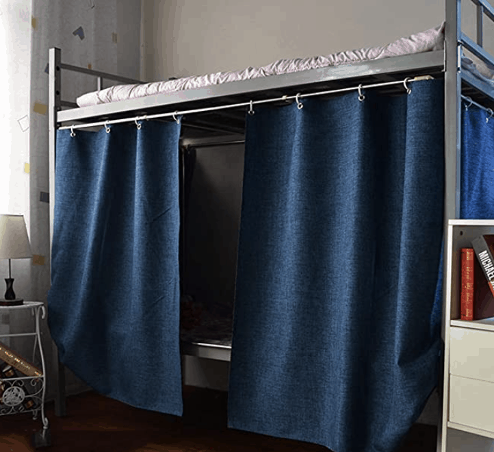 How To Hang Curtains On A Bunk Bed, Loft Bed Curtains Diy